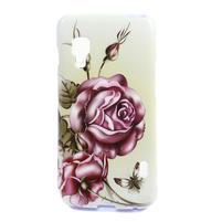 Gelová pouzdro pro LG Optimus L5 Dual E455- Růže