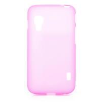 Matné gelové pouzdro pro LG Optimus L5 Dual E455- růžové