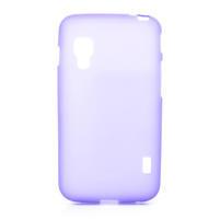 Matné gelové pouzdro pro LG Optimus L5 Dual E455-fialová