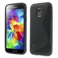 Gelové S-line pouzdro na Samsung Galaxy S5 mini G-800- černé