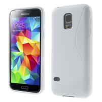 Gelové S-line pouzdro na Samsung Galaxy S5 mini G-800- bílé