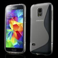 Gelové S-line pouzdro na Samsung Galaxy S5 mini G-800- transparentní