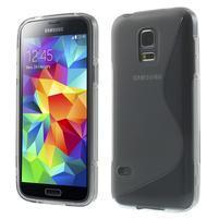 Gelové S-line pouzdro na Samsung Galaxy S5 mini G-800- šedé