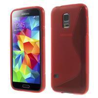 Gelové S-line pouzdro na Samsung Galaxy S5 mini G-800- červené