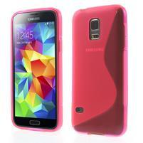 Gelové S-line pouzdro na Samsung Galaxy S5 mini G-800- růžové