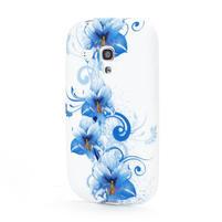 Bílé gelové pouzdro pro Samsung Galaxy S3 mini / i8190 - vzor Lily