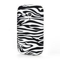 Gelové pouzdro na Samsung Galaxy S3 mini i8190- zebra bílá