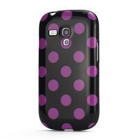Gelové pouzdro PUNTÍK pro Samsung Galaxy S3 mini i8190- černofialové