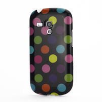 Gelové pouzdro PUNTÍK pro Samsung Galaxy S3 mini i8190- černobarevné