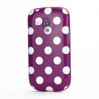 Gelové pouzdro PUNTÍK pro Samsung Galaxy S3 mini i8190- fialové