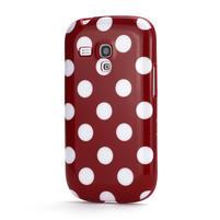 Gelové pouzdro PUNTÍK pro Samsung Galaxy S3 mini i8190- červené