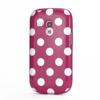 Gelové pouzdro PUNTÍK pro Samsung Galaxy S3 mini i8190- růžové