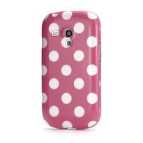 Gelové pouzdro PUNTÍK pro Samsung Galaxy S3 mini i8190- světle-růžové