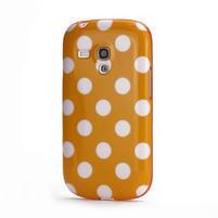 Gelové pouzdro PUNTÍK pro Samsung Galaxy S3 mini i8190- oranžové