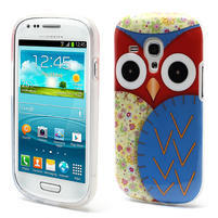 Gelové pouzdro pro Samsung Galaxy S3 mini / i8190 - modrá Sova
