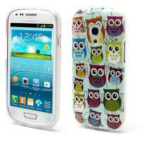 Gelové pouzdro pro Samsung Galaxy S3 mini / i8190 - mini Sovy II