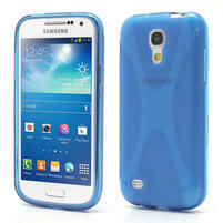 Gelové X pouzdro pro Samsung Galaxy S4 mini i9190- modré