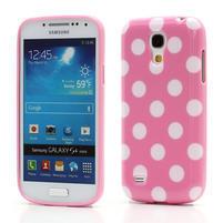 Gelový Puntík pro Samsung Galaxy S4 mini i9190- světlerůžové