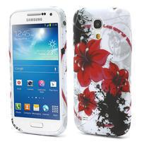 Gelové pouzdro pro Samsung Galaxy S4 mini i9190- červený květ