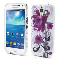 Gelové pouzdro pro Samsung Galaxy S4 mini i9190- fialové květy