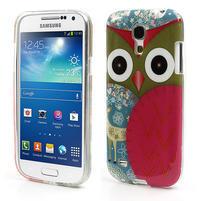 Gelové pouzdro na Samsung Galaxy S4 mini i9190- sova červená