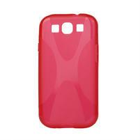 Gelové pouzdro pro Samsung Galaxy S3 i9300 - X-line červené