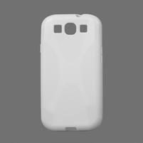 Gelové pouzdro pro Samsung Galaxy S3 i9300  - X-line bílé