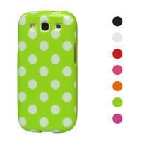 Puntíkové pouzdro pro Samsung Galaxy S3I i9300 - zelené