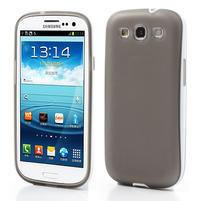 Gelové rámované pouzdro na Samsung Galaxy S3 i9300- šedé