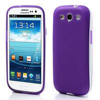 Gelové rámované pouzdro na Samsung Galaxy S3 i9300- fialové