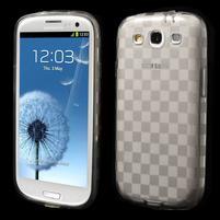 Gelové koskaté pouzdro na Samsung Galaxy S3 i9300- šedé