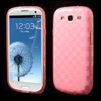 Gelové koskaté pouzdro na Samsung Galaxy S3 i9300- růžové
