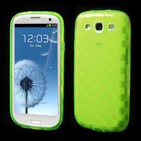 Gelové koskaté pouzdro na Samsung Galaxy S3 i9300- zelené