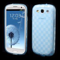 Gelové koskaté pouzdro na Samsung Galaxy S3 i9300- modré