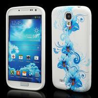 Gelové pouzdro pro Samsung Galaxy S4 i9500- modrá Lilie