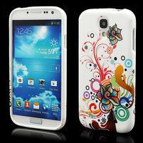 Gelové pouzdro pro Samsung Galaxy S4 i9500- barevná květina
