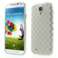 Gelové kosočvercové pouzdro na Samsung Galaxy S4 i9500- Transparentní