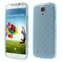 Gelové kosočvercové pouzdro na Samsung Galaxy S4 i9500- modré