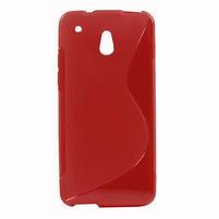 Gelové S-line pouzdro pro HTC one Mini M4- červené