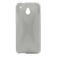 Gelové X-line pouzdro pro HTC one Mini M4- šedé