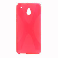 Gelové X-line pouzdro pro HTC one Mini M4- růžové