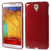 Gelové kartáčované pouzdro na Samsung Galaxy Note 3 Neo - červené