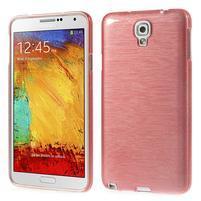 Gelové kartáčované pouzdro na Samsung Galaxy Note 3 Neo - světlerůžové