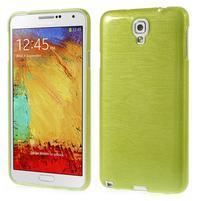 Gelové kartáčované pouzdro na Samsung Galaxy Note 3 Neo - zelené