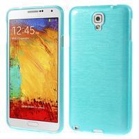 Gelové kartáčované pouzdro na Samsung Galaxy Note 3 Neo - modré