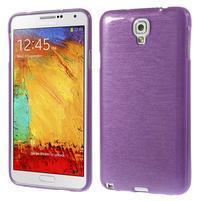 Gelové kartáčované pouzdro na Samsung Galaxy Note 3 Neo - fialové