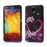 Gelové pouzdro na Samsung Galaxy Note 3- srdce