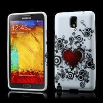 Gelové pouzdro na Samsung Galaxy Note 3- horké srdce