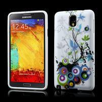 Gelové pouzdro na Samsung Galaxy Note 3- květiny