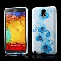 Gelové pouzdro na Samsung Galaxy Note 3- modrá lilie